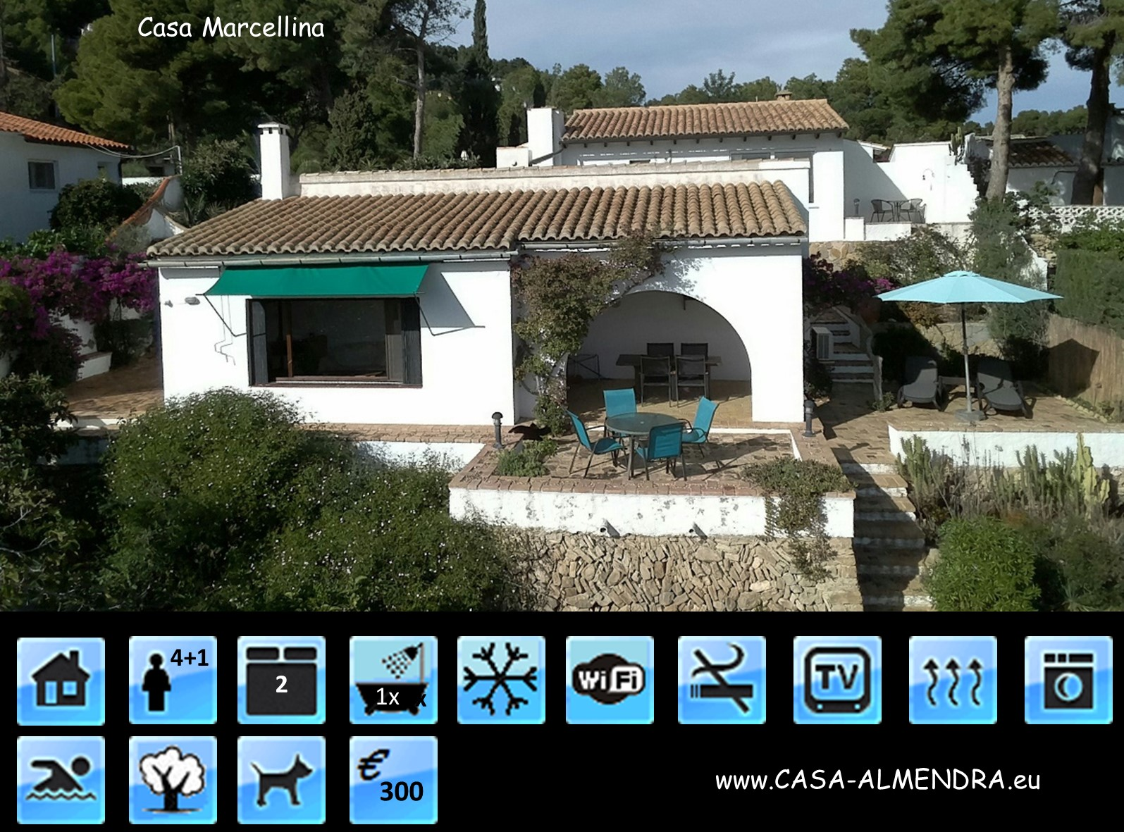 Vakantiehuis Casa Marcellina @ Casa Almendra in Calpe